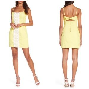 Lilly Pulitzer Yellow Shelli Stretch Sheath Dress